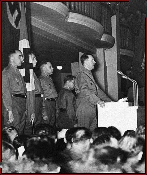 Hitler in Munich, circa 1936.