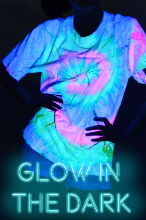 0e6a48bc963a8 UV Black Light Glow In The Dark Shirts | Neon Rainbow Tie Dye Unisex ...