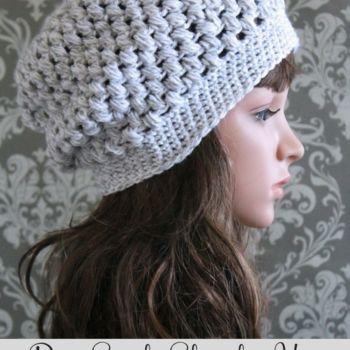 Free Puff Stitch Slouchy Hat Crochet Pattern