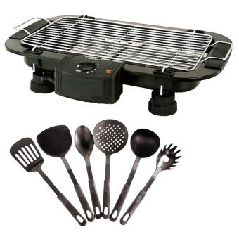 Buy Electric Barbecue Grill Outdoor BBQ with Heat Resistance Plastic Ladle 6-piece set (Black) online at Lazada. Discount prices and promotional sale on all. Free Shipping.