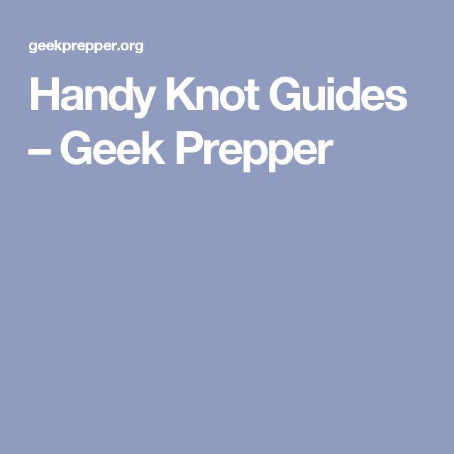 Handy Knot Guides – Geek Prepper