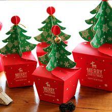 Caixa de Presente da árvore Do feliz Natal, bolinho Cholocate de Alimentos Caixas de Papel, Caixa de Natal Maçã, Caixa de Presente de natal 30 pçs/lote(China (Mainland))