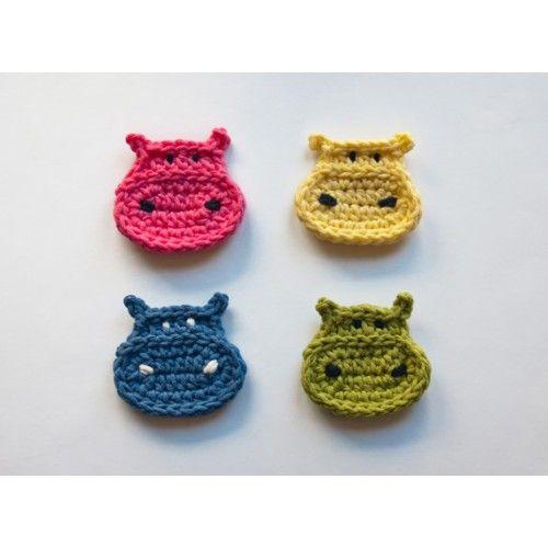 Hippo Applique Crochet Pattern
