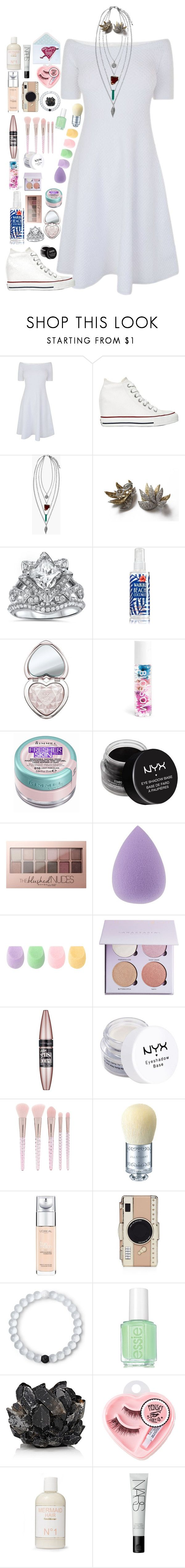 """""""Inez- Vegas Wedding"""" by shadesofcharm ❤ liked on Polyvore featuring MICHAEL Michael Kors, Converse, Boohoo, Too Faced Cosmetics, Rimmel, NYX, Maybelline, Forever 21, Morgan Lane and L'Oréal Paris"""