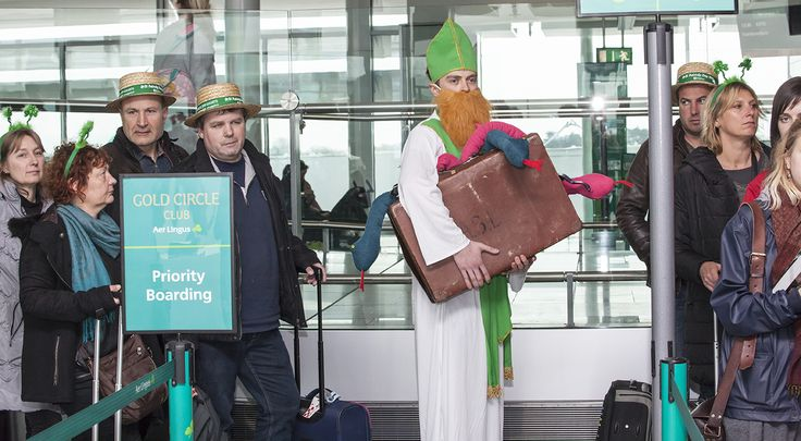 Saint Patrick getting ready to board