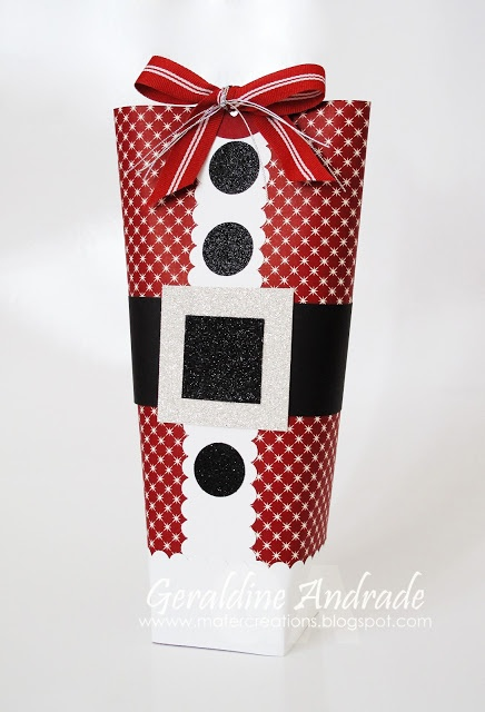 SANTA BAG - like the patterned paper rather than solid red  Stampin' Up!