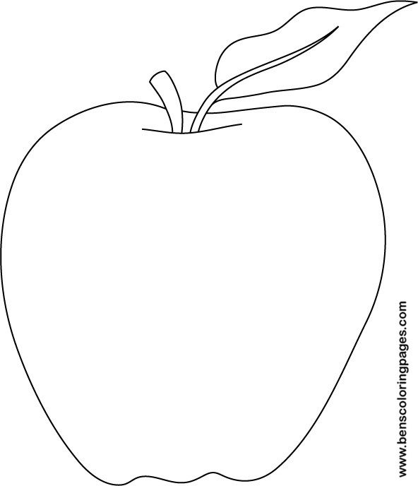 apple coloring pages printable for school