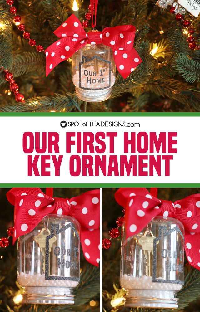 Our First Home Key Christmas Ornament Spot Of Tea Designs Christmas Ornaments Family Christmas Ornaments Christmas Ornament Sets