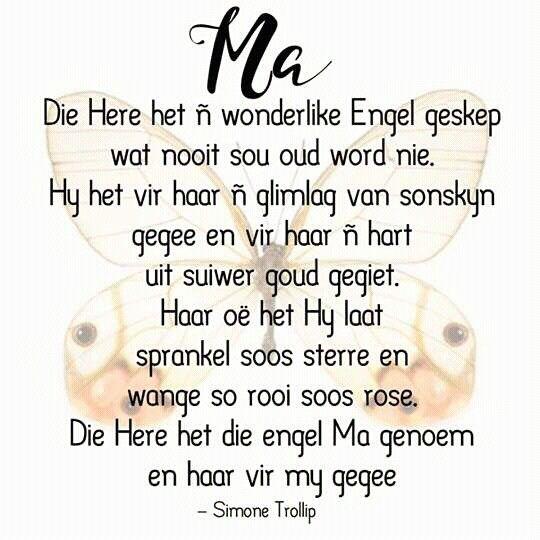 Ma... __(Simone Trollip) #Afrikaans #MamaMia