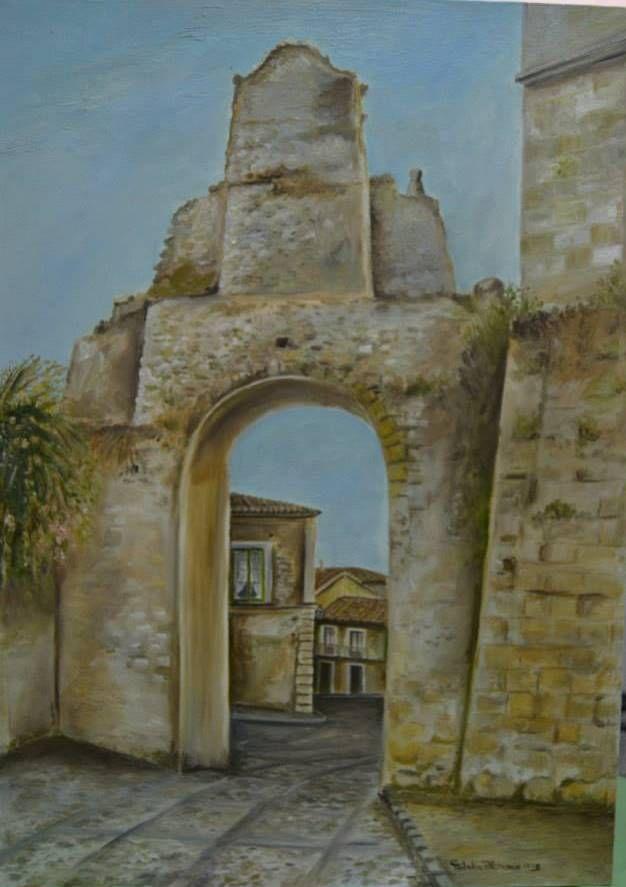 Portale Gerace olio su tela 50 x 70 1998 autore Natalia Albanese