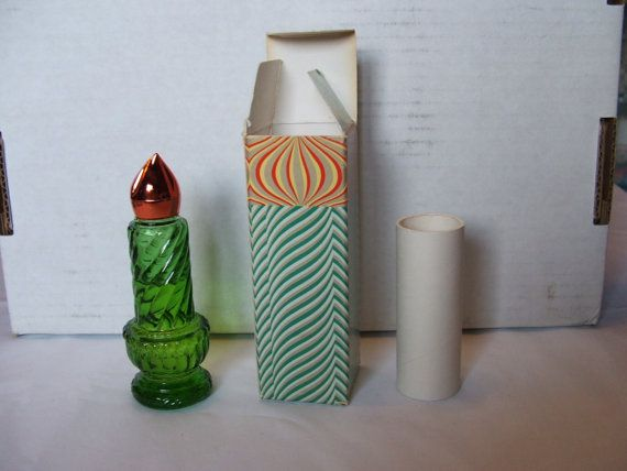 Vintage Avon Christmas Candle Moonwind Perfume Bottle With ...