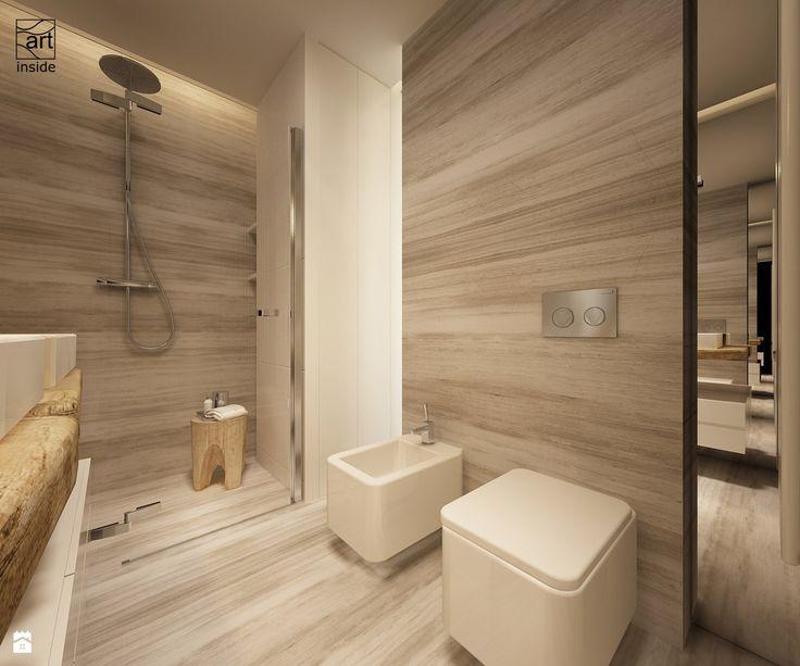 łazienka w ciepłych odcieniach - zdjęcie od art inside - studio projektowania wnętrz i ogrodów - Łazienka - Styl Skandynawski - art inside - studio projektowania wnętrz i ogrodów
