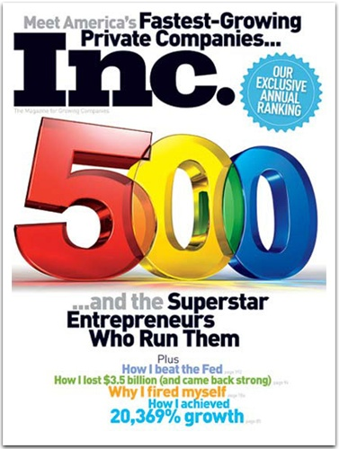 2010 - National Recognition:  Following industry wide accolades a year earlier, Stemtech received national recognition in 2010 by making Inc.'s coveted Inc. 5,000 list of fastest-growing privately held companies in America (ranked 1,484 out of over 29 million companies).