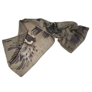 """Entitled """"La Destinee Isadora Duncan,"""" this scarf has a dark, gothic, almost macabre aura. Quite fitting as Isadora is rumored to have died my an accidental strangling with one of her flamboyant wraps. Drama was, of course, her forte. Ibride via AHA Life"""