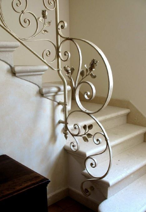 лестничные перила из кованого железа, wrought iron