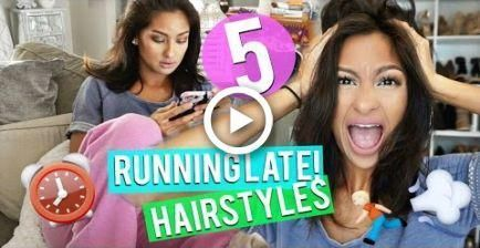 5 RUNNING LATE HAIRSTYLES- Quick & Easy! NO HEAT! #hair #Easyhairstyles #noheathair 5 RUNNING LATE HAIRSTYLES- Quick & Easy! NO HEAT! #hair