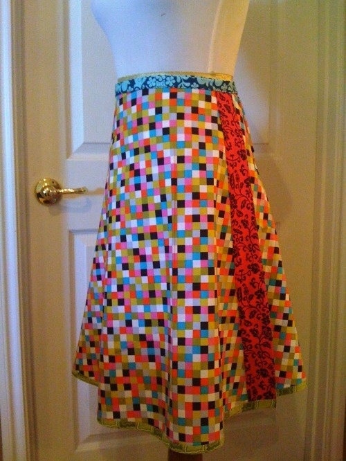 how to make a dress from a wrap skirt