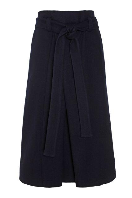 Шерстяная юбка Avelon - Юбка-трапеция благородного темно-синего цвета в интернет-магазине модной дизайнерской и брендовой одежды