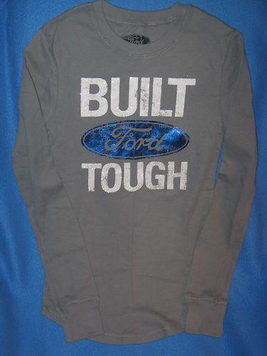 Ford Car Truck SUV New Womens Juniors Shiny Gray Long Sleeve Thermal Shirt | eBay