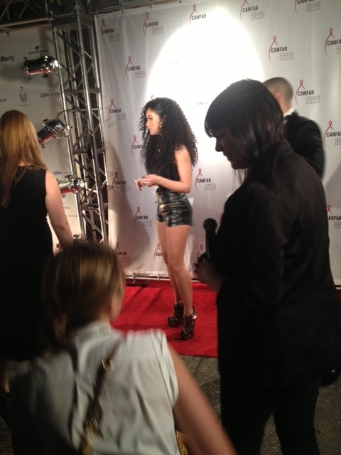 Mia Martina on the red carpet in custom Parasuco! MMVA Universal after party