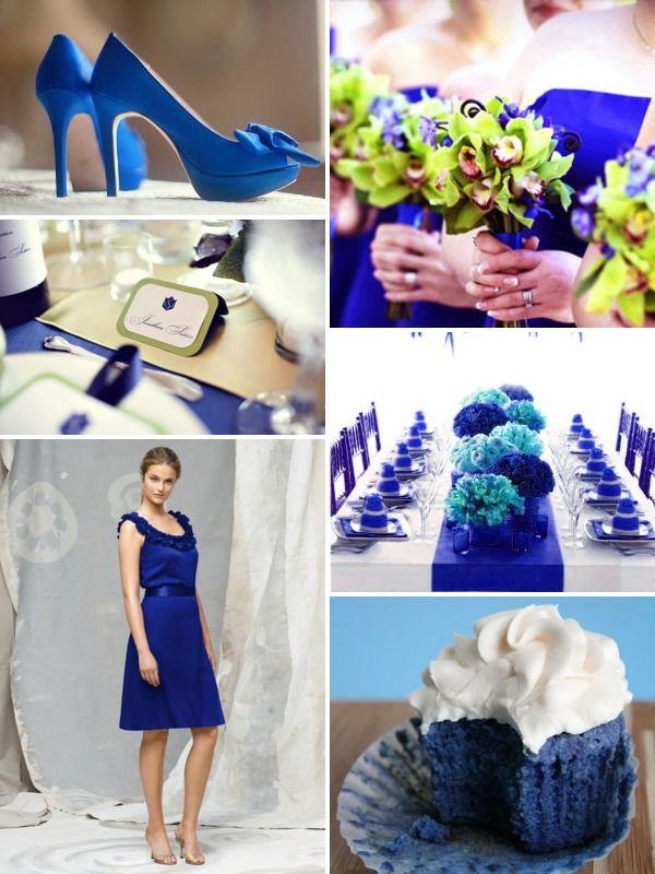 Royal blue wedding inspiration board.