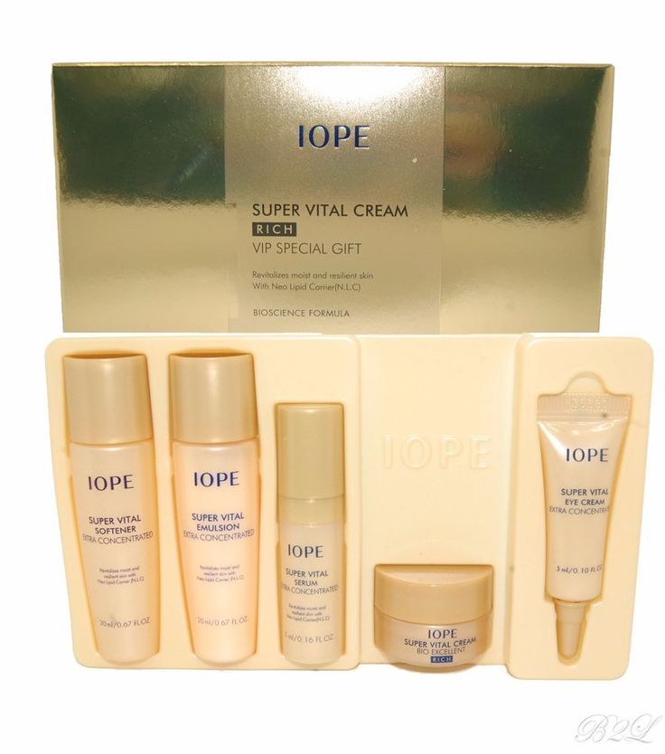 [IOPE] Super Vital Cream Rich VIP Special Gift /5Items Included by Amore Pacific #IOPE