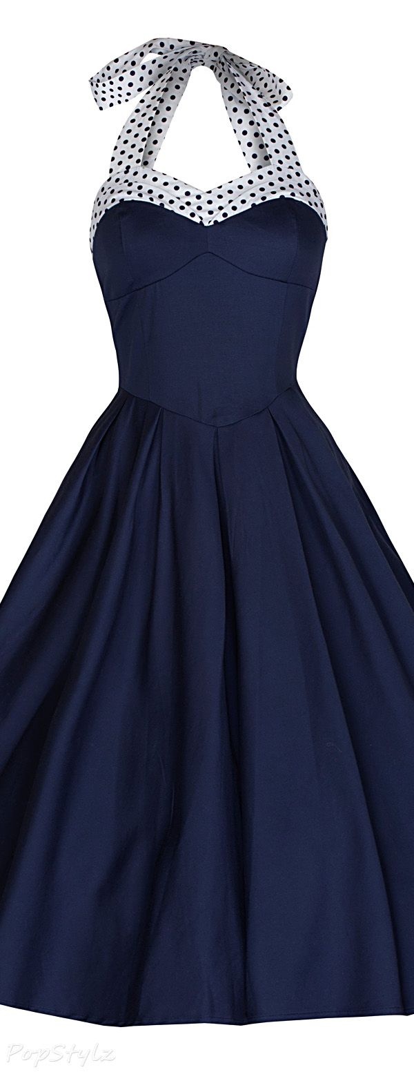 Lindy Bop 'Carola' Vintage 1950's Halter Swing Dress