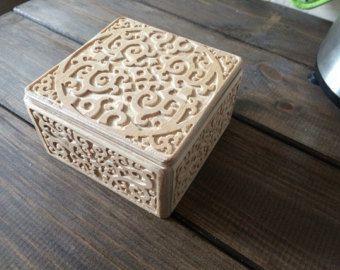 Precioso cofre de madera con 3 cajones Inspiración de por TinusArt