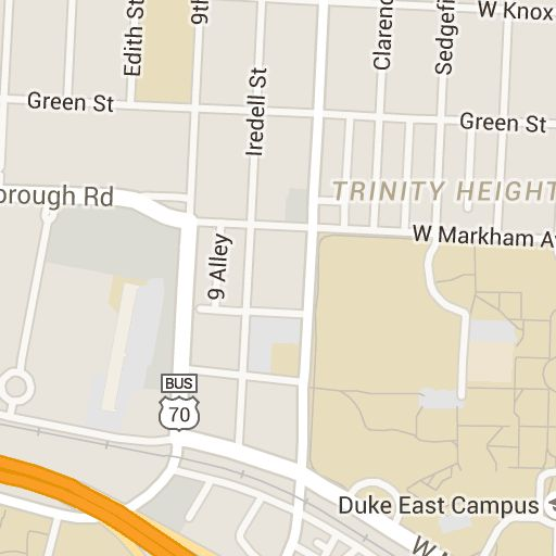 Duke University Maps | Duke East Campus | Campus map, Duke, Map on