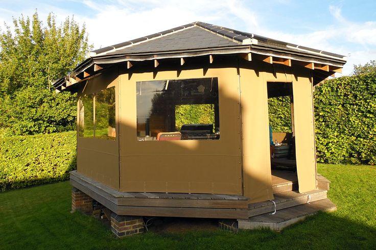 Gazebo side panels, pavilion covers, pergola covers, garden canopies, garden gazebo sides, custom gazebo side panels, bespoke gazebo side panels, Jacuzzi Shelter