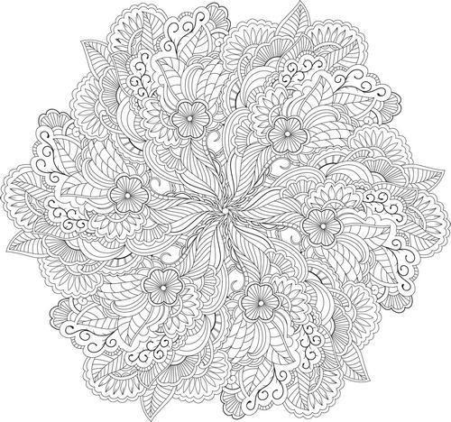 Mandala imprimer mandala zen mysticisme - Coloriage destressant ...