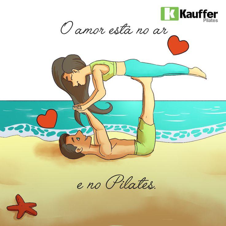 O amor está no ar e no Pilates!