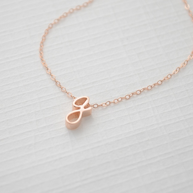 NEW- Rose Gold LOWERCASE Initial Necklace