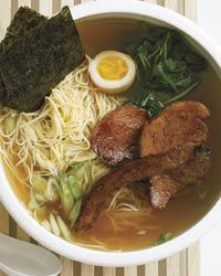 After visiting New York City's top ramen spots (including Ippudo NY, Sapporo and Momofuku Noodle Bar), Grace Parisi created her dream ramen with a pork-and-chicken-based broth that gets extra depth of flavor from kombu (seaweed) and shoyu (Japanese soy sauce).