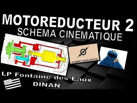 Dessin industriel - Motoréducteur 2 - Schéma cinématique -