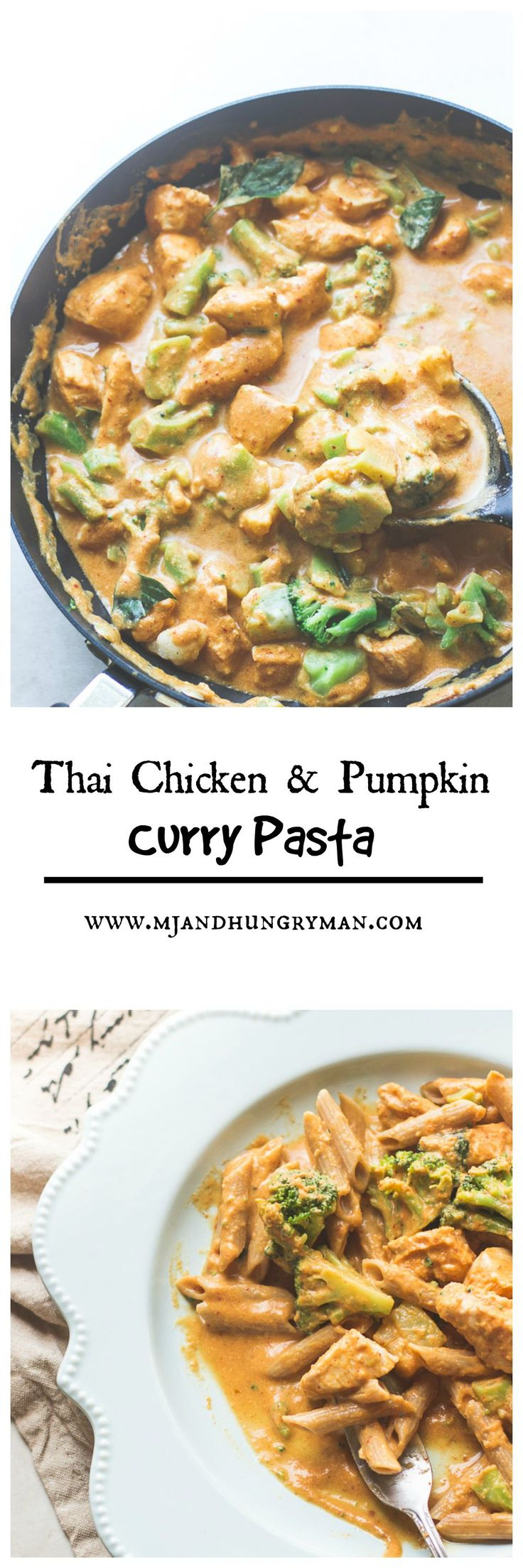 Thai Chicken and Pumpkin Curry Pasta  #pastafits #ad