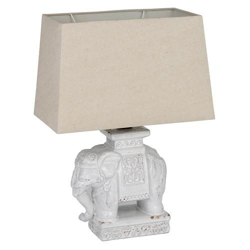 India inspired...Ceramic Elephant Table Lamp with Shade