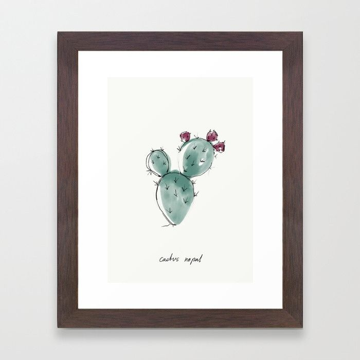Buy CACTUS NOPAL Framed Art Print by nadinebatista. Worldwide shipping available at Society6.com. Just one of millions of high quality products available.