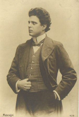 Italian Opera Composer Pietro Mascagni.  was an Italian composer most noted for his operas. His 1890 masterpiece Cavalleria rusticana caused one of the greatest sensations in opera history and single-handedly ushered in the Verismo movement in Italian dramatic music.
