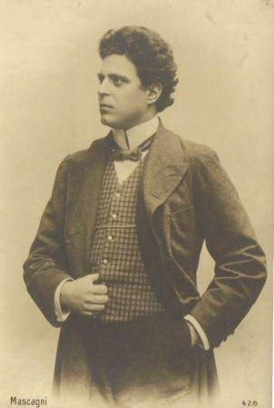 Italian Opera Composer Pietro Mascagni. It was his famous intermezzo from Cavaliera Rusticana  first got me interested in Opera.