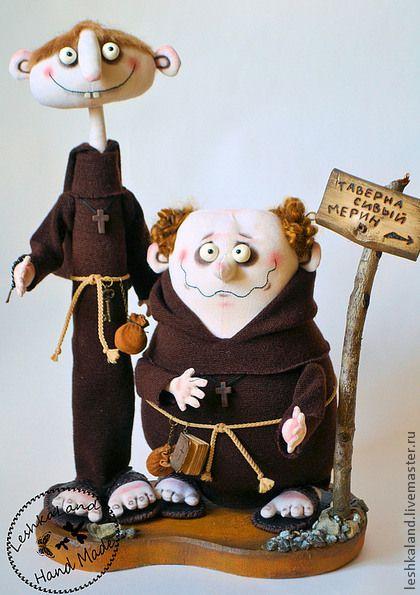 Коллекционные куклы ручной работы. Два монаха. Лена Лешка. Интернет-магазин Ярмарка Мастеров. Монах, интерьерная игрушка