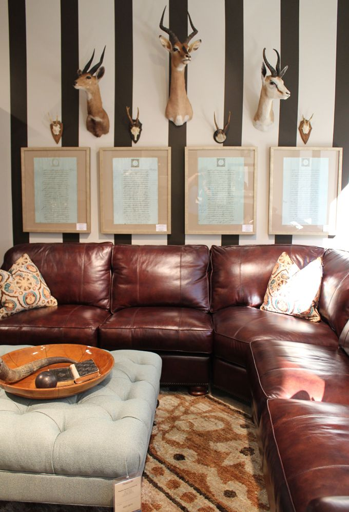 Brown Leather Couches Living Room Decor Red Accents: 279 Best Images About Brown Leather Couch Decor On