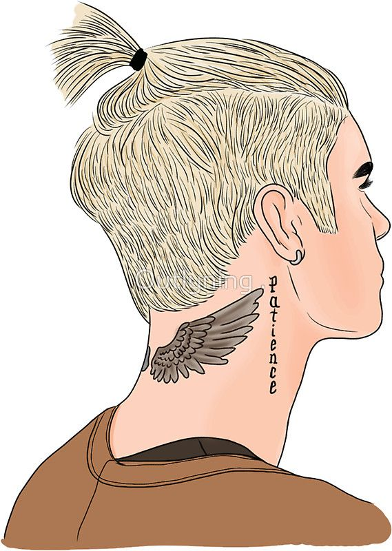 Justin Bieber Ponytail Drawing by Outlyning Designs