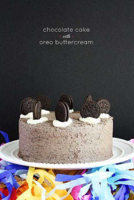 chocolate-cake-oreo-buttercream by luluthebaker, via Flickr