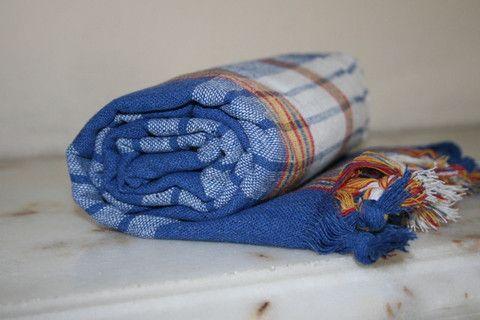 Blue Turkish Bath Hamam Peshtemal Towel