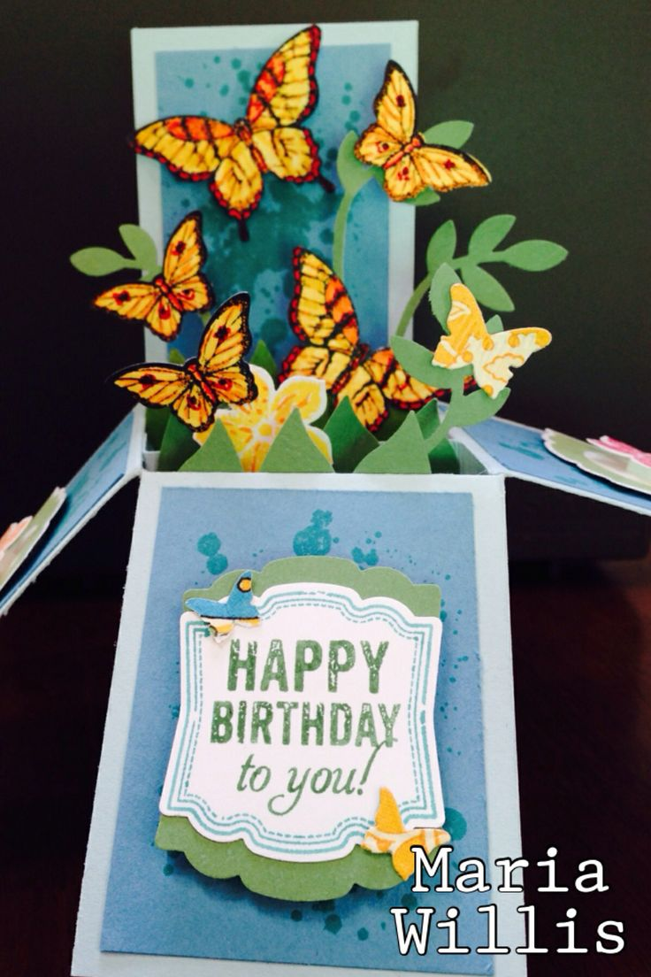 Butterfly Box Card by Maria Willis Stampin' Up