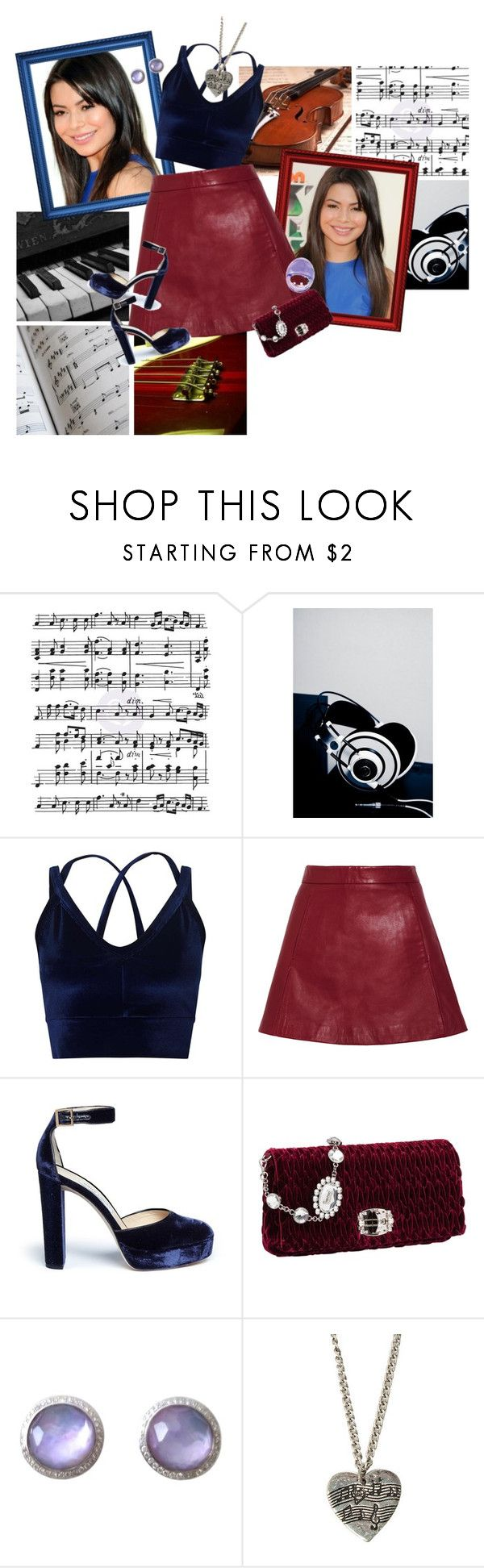 """Musa"" by srta-sr ❤ liked on Polyvore featuring Music Notes, Nickelodeon, Miss Selfridge, Ganni, Jimmy Choo, Miu Miu, Ippolita and Lalique"