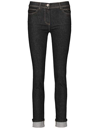 f21144150f7dcc TAIFUN Damen Hose Jeans lang 5-Pocket-Jeans mit dunkler Waschung Skinny TS  Black