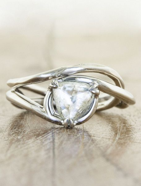 Knolly June 2014 trillion cut nature inspired engagement ring LOVE!