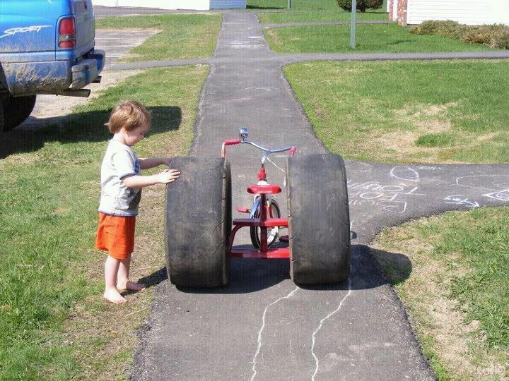 Start 'em out young...Drag Racing, Funny Image, Big Wheels, Quote, Redneck, Funny Stuff, Mr. Big, Kids, Funnystuff